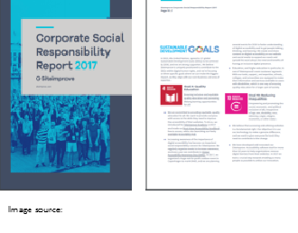 Corporate Social Responsibility Report 2017 cover page